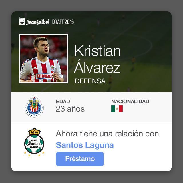 Kristian Álvarez llega a préstamo por una temporada con Santos Laguna