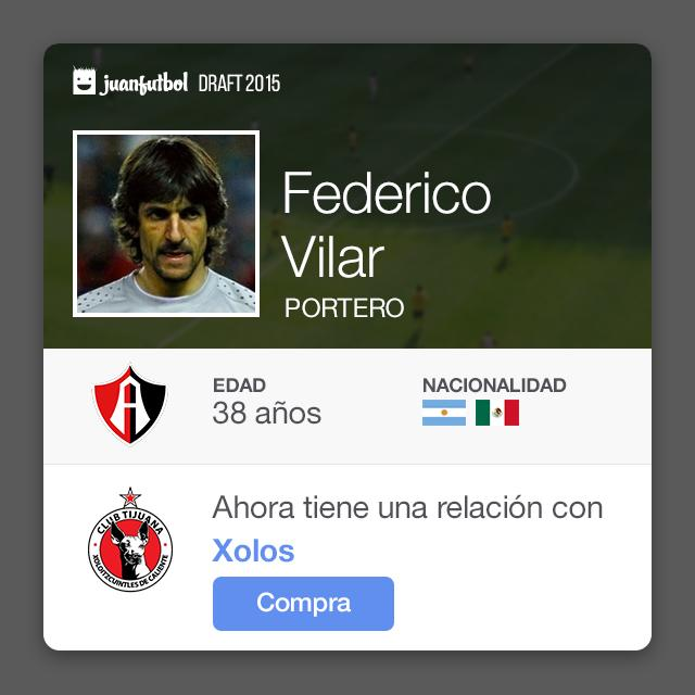 Federico Vilar llega a Xolos