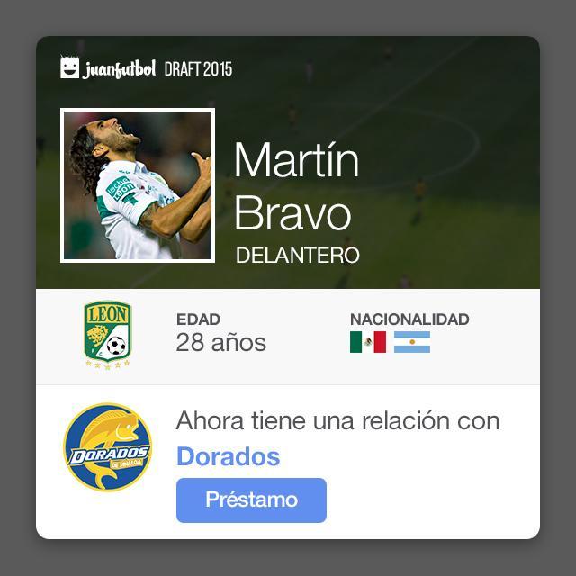 Martín Bravo llega a préstamo con Dorados