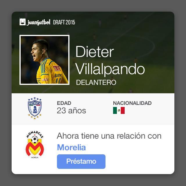 Dieter Villalpando llega préstamo con Monarcas procedente de Pachuca