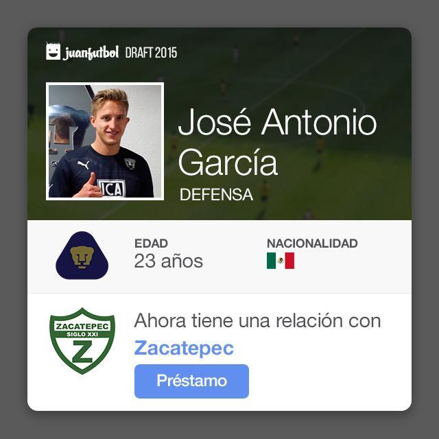 José Antonio García pasa a Zacatepec procedente de Pumas