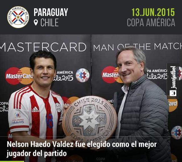 Nelson Haedo Valdez marcó el gol del empate contra Argentina