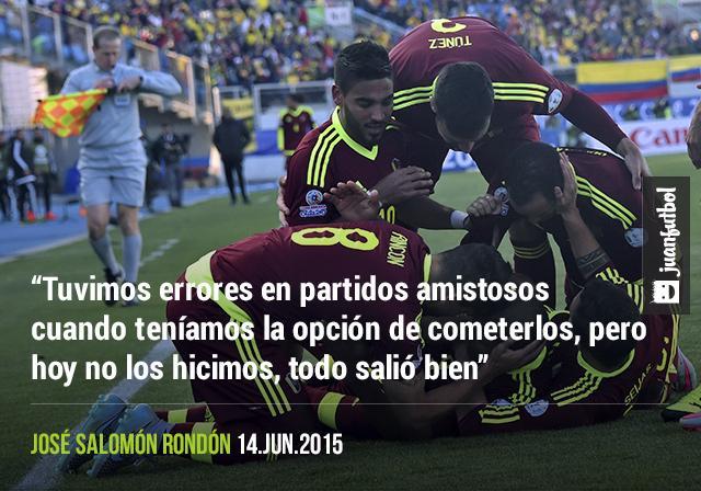 Salomón Rondón aseguró que el equipo aprendió de sus errores para ser mejores y vencer a Colombia