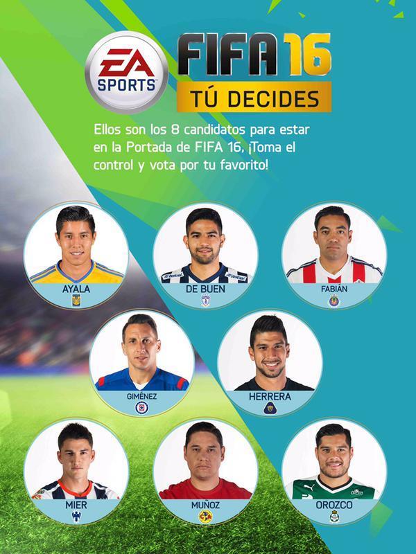 Candidatos para protagonizar la portada del FIFA 16