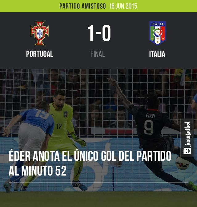 Portugal gana partido amistoso contra Italia