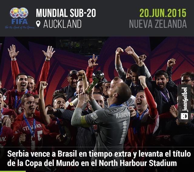 Serbia vence a Brasil en tiempo extra y levanta el título de la Copa del Mundo