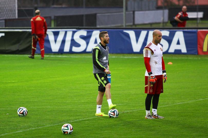 Pepe Reina y Sergio Ramos