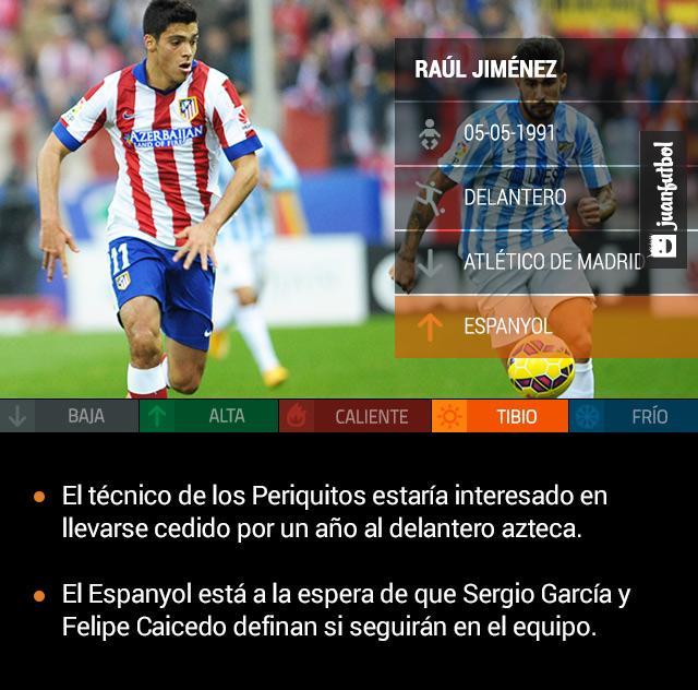 El Espanyol de Barcelona estaría buscando llevarse cedido a Raúl Jiménez