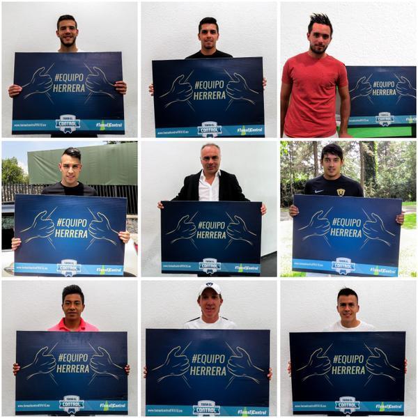 Los jugadores y cuerpo técnico de Pumas mandaron su apoyo a Eduardo Herrera para que sea portada de FIFA 16