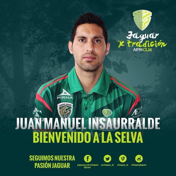 Jaguares le da la bienvenida a Juan Manuel Insaurralde, jugador argentino proveniente del Spartak de Moscú