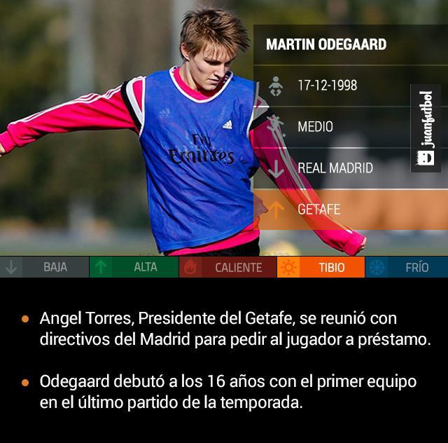 Martin Odegaard podría llegar a préstamo con el Getafe para la siguiente temporada