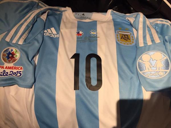 Camiseta de Argentina para la final de la Copa América.