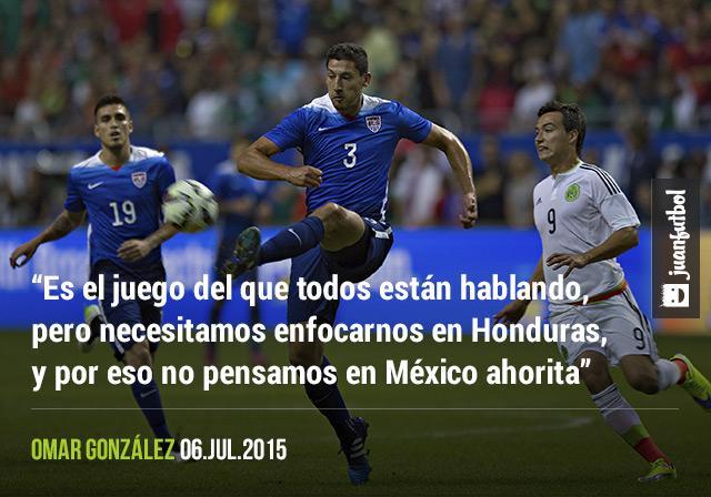 Omar González cree que USMNT debe enfocarse primero en Honduras en la Copa Oro