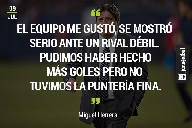 Miguel Herrera se siente satisfecho tras el despliegue del Tri ante Cuba