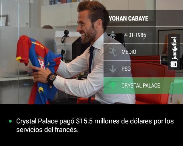 Yohan Cabaye firma por las próximas tres temporadas con el Crystal Palace