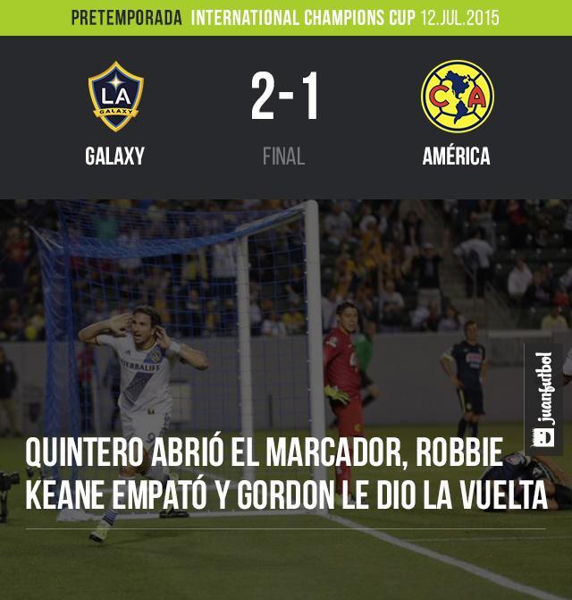 América pierde en su presentación en la International Champions Cup frente al Galaxy por 2 a 1.