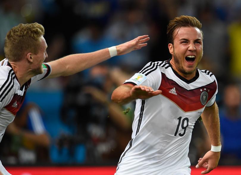 Mario Götze celebra el gol de la victoria