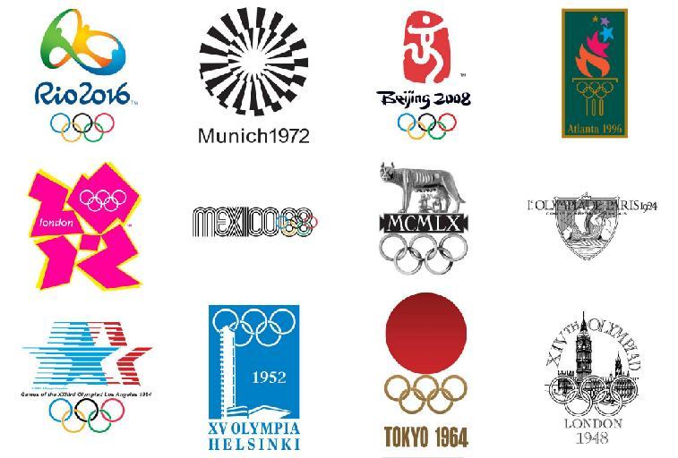Logos olímpicos a través de la historia