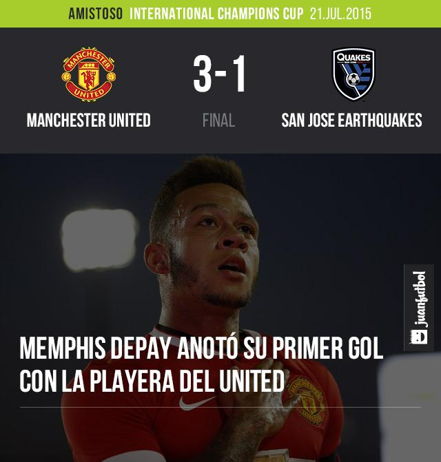 Manchester United derrota 3-1 a San Jose Eartquakes en la International Champions Cu