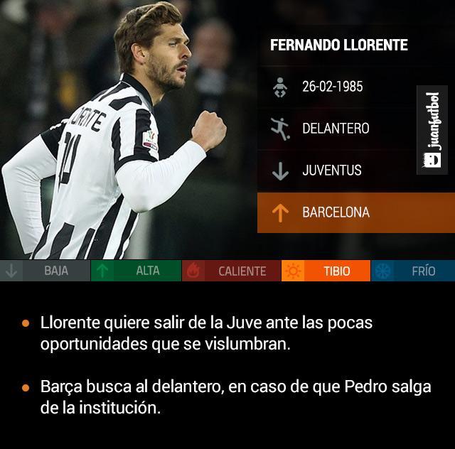 Fernando Llorente es pretendido por el Barcelona