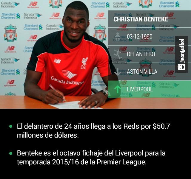 Christian Benteke es el nuevo delantero estrella del Liverpool