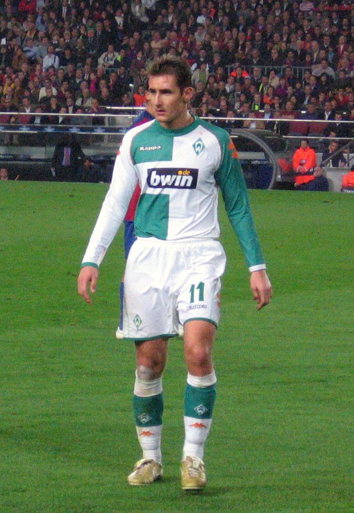 Miroslav Klose falló un penal a propósito con el Werder Bremen porque había sido mal señalado.