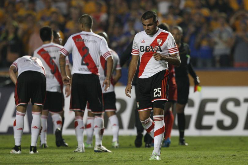 Jugadores de River Plate ofrecen conferencia de prensa previo al partido ante Tigres por la final de la Copa Libertadores