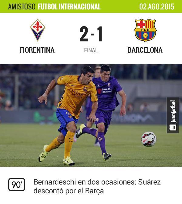 Fiorentina vence 2-1 al Barcelona en Florencia como parte de la International Champions Cup