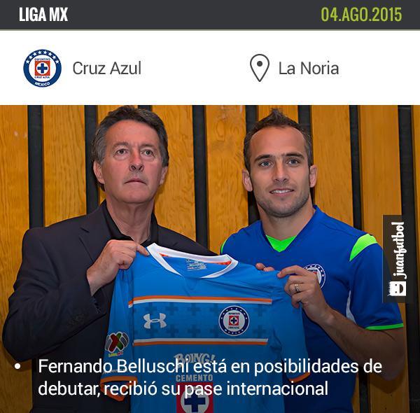 Belluschi recibió su pase internacional y está a la espera de que Sergio Bueno lo haga debutar.