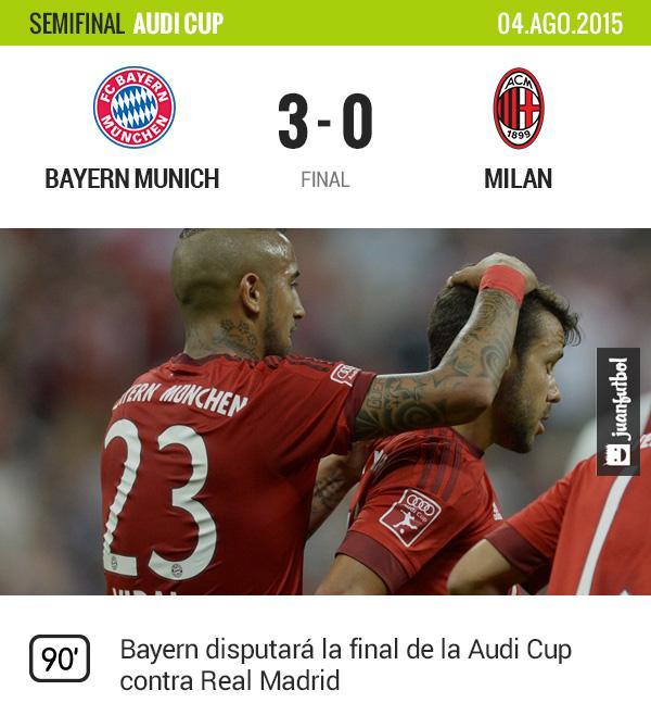 Bayern derrota fácilmente a Milan en la Audi Cup con goles de Lewandowski, Bernat y Götze