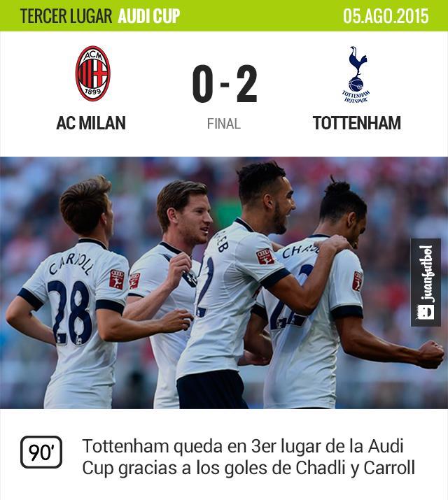 Tottenham gana el tercer lugar de la Audi Cup en Munich