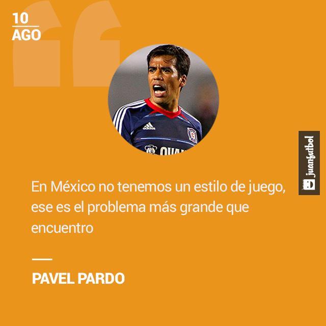 Pavel Pardo asegura que el problema del futbol mexicano es que no tiene estilo propio