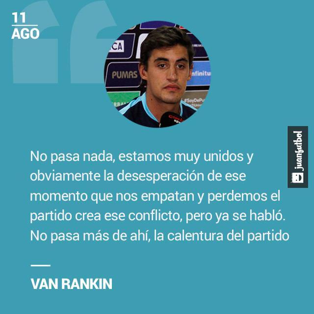 Van Rankin aclara que las diferencias entre Britos y Cabrera son producto de la calentura del partido