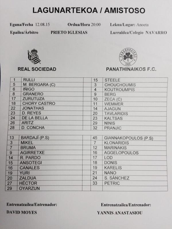 Diego Reyes, debutará en amistoso ante Panathinaikos