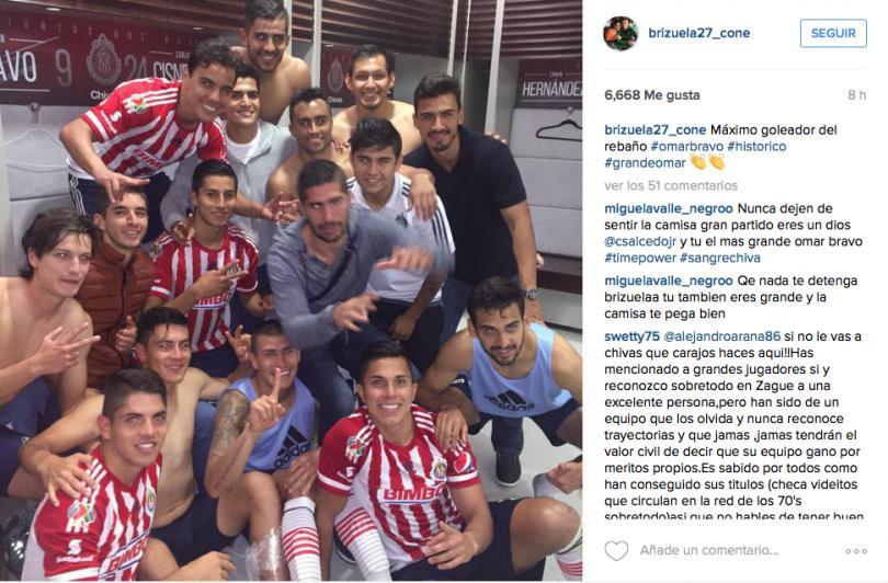 Brizuela felicita a Bravo a través de redes sociales