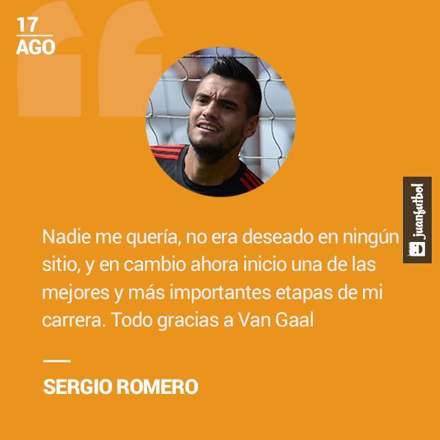 Sergio Romero agradece a Van Gaal por revivir su carrera