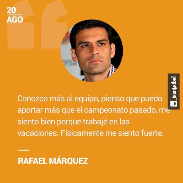 Rafael Márquez listo para iniciar su segunda temporada en la Serie A