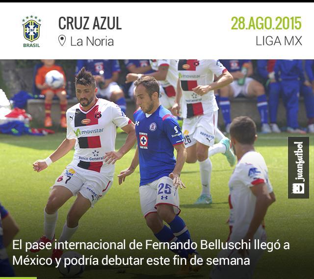 Belluschi ya tiene su pase internacional y podría debutar frente al América este fin de semana.