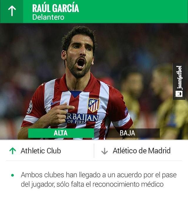 Atlético de Madrid y Athletic llegan a un acuerdo por Raúl García