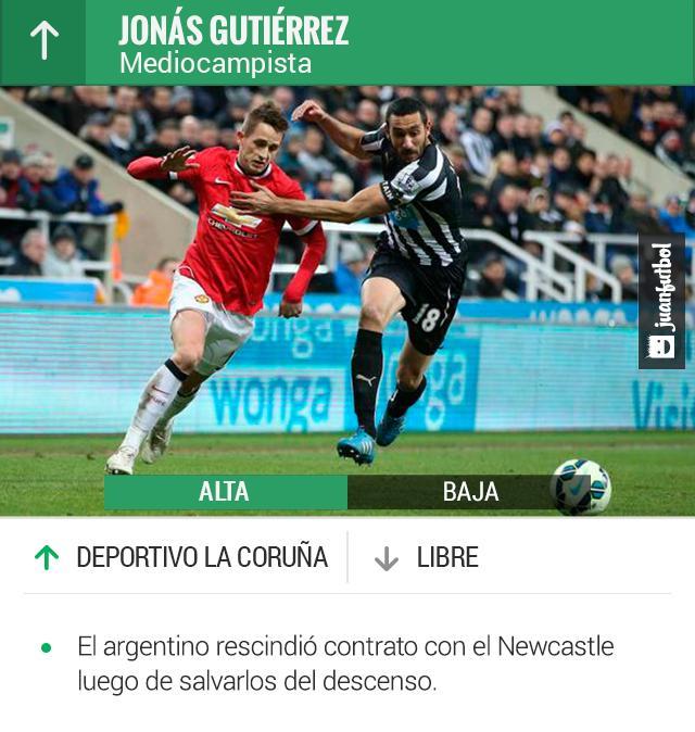Jonas Gutiérrez jugará en el Dpoertivo La Coruña la próxima temporada.