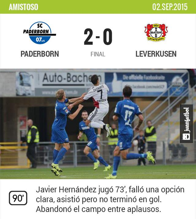 Chicharito juega sus primeros minutos con el Leverkusen