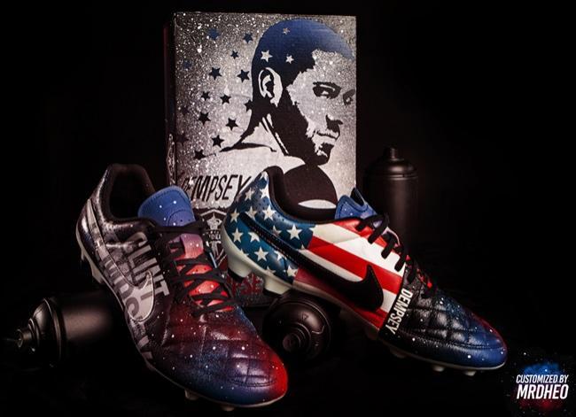 Artista portugués crea botas para Clint Dempsey