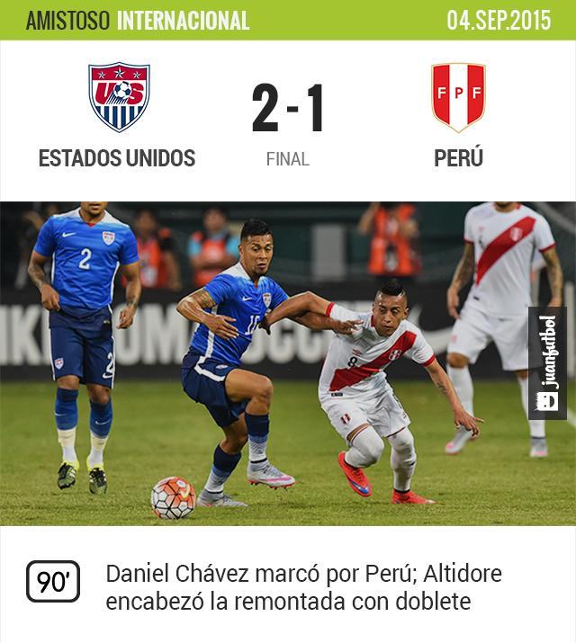 Estados Unidos 2-1 Perú