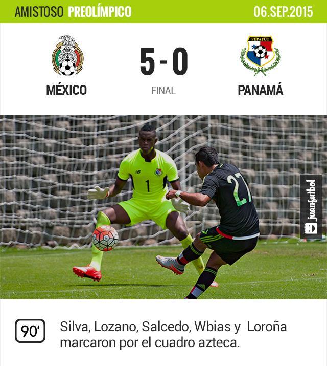 La Selección de México Sub-22 venció 5-0 a Panamá en partido amistoso