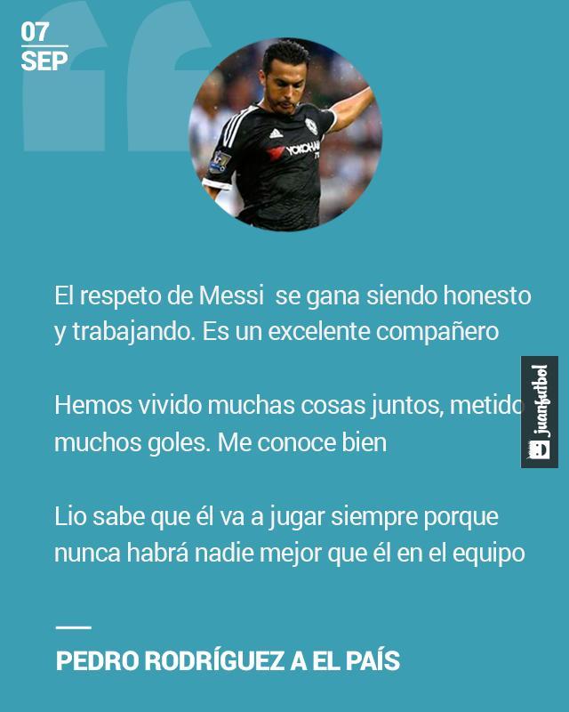 Pedrito Rodríguez habla de su relación con Messi
