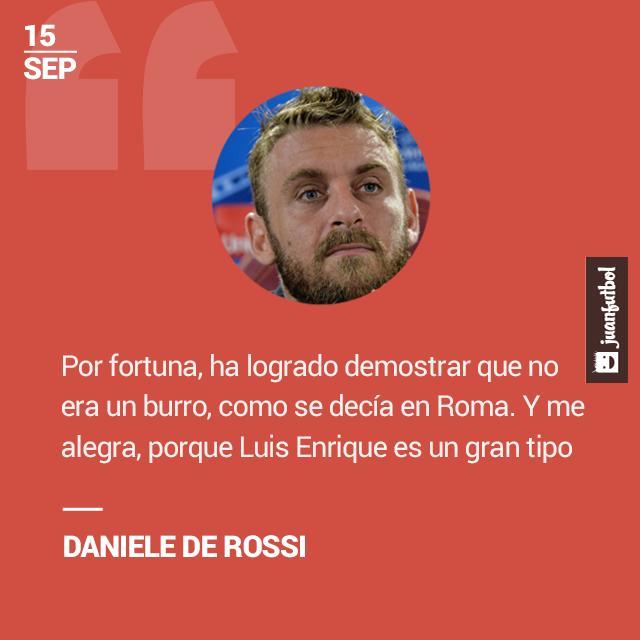 El italiano consideró un gran DT a Luis Enrique.