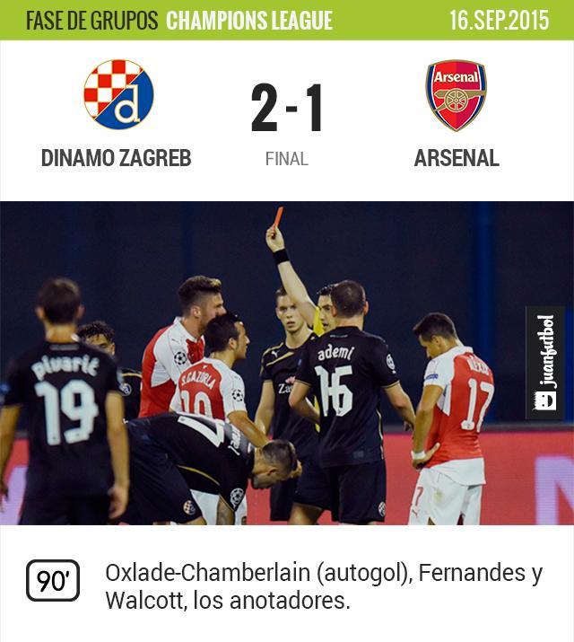 Dinamo Zagreb se lleva su primera victoria en 15 encuentros en la fase de grupos de la Champions League