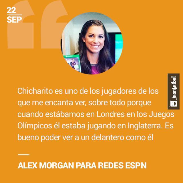 Alex Morgan declara porque es fan de Chicharito.