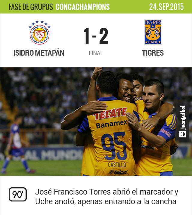 Isidro Metapán 1-2 Tigres
