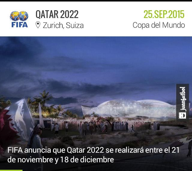 Ya hay fechas para el mundial de Qatar 2022
